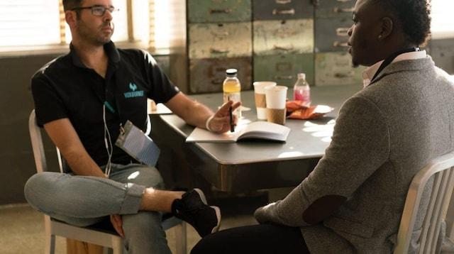 Business Development Two Men Talking