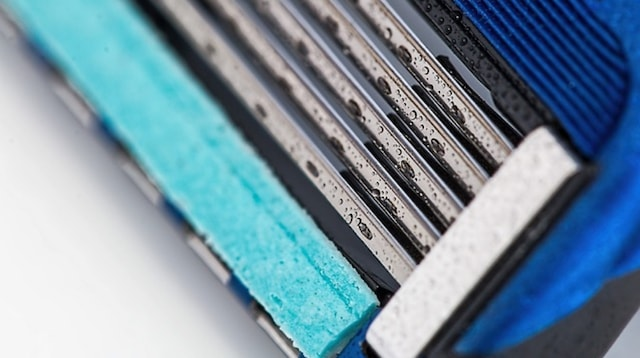 Business Model Closeup of Razor Blade