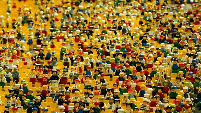 Buy Instagram Followers Crowd of Lego Figures