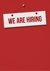 Career Opportunities We are Hiring Sign