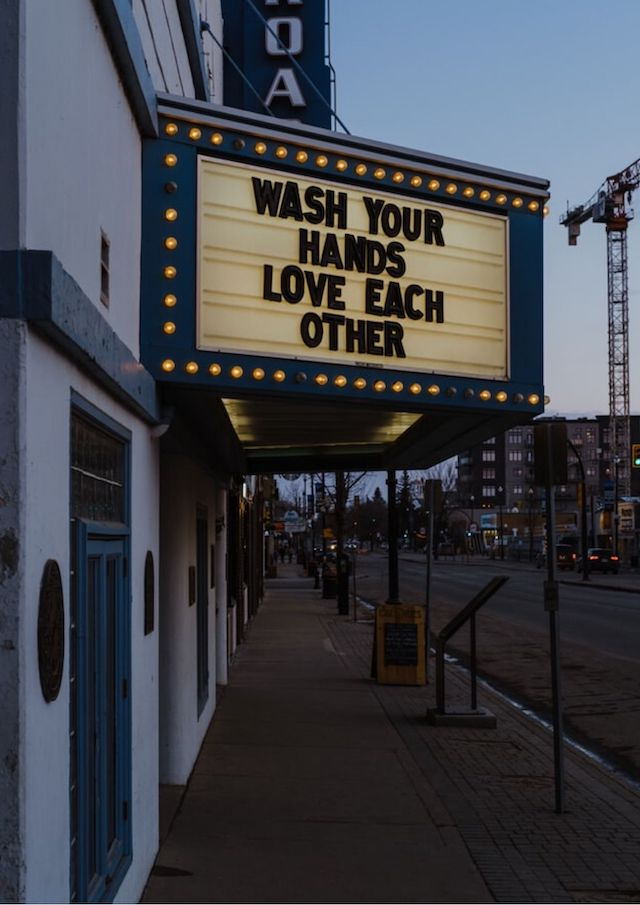 Communication Strategy Wash Your Hands Movie Marquee