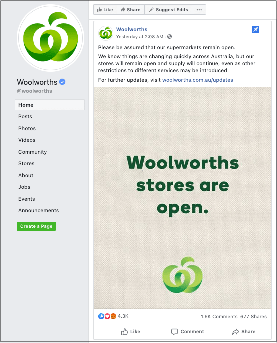 Customer Contact Woolworths