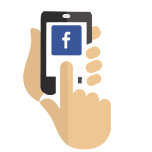 Facebook Advertising Hands Holding Smartphone