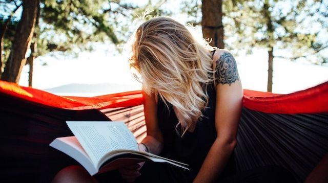 Fresh Start Woman Reading Outdoors
