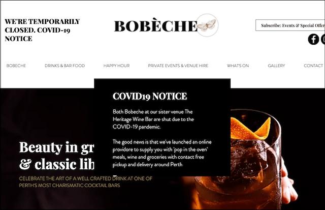 Global Economic Crisis Bobeche Covid-19 Message