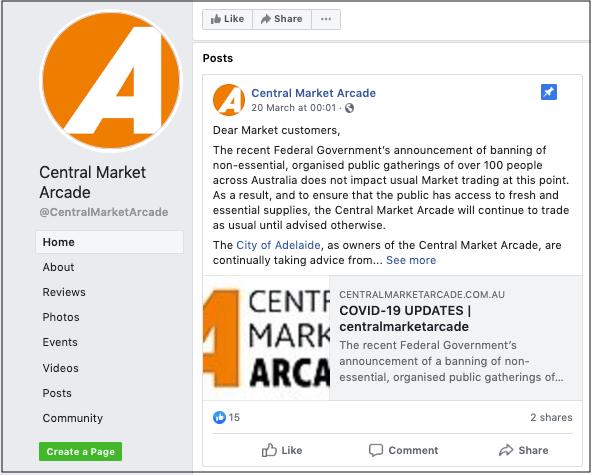 Global Economic Crisis Central Market Arcade Facebook