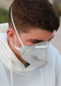 Global Economic Crisis Man Wearing Mask