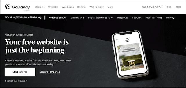 GoDaddy Websites plus Marketing landing page