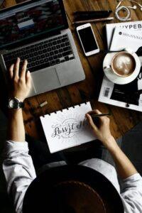 Graphic Artist Working on a Design
