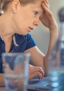 Operations Management Woman Looking Frustrated