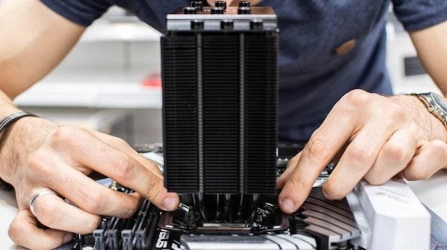 R&D Person Building Computer