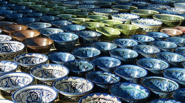 Small Business Tax Offset Display of Ceramic Bowls