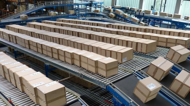 Income Statement Shipping Boxes in Warehouse