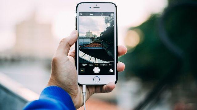 Instagram Advertising Man Taking Photo Outdoors