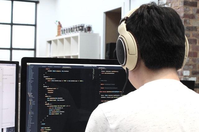 Web designer coding