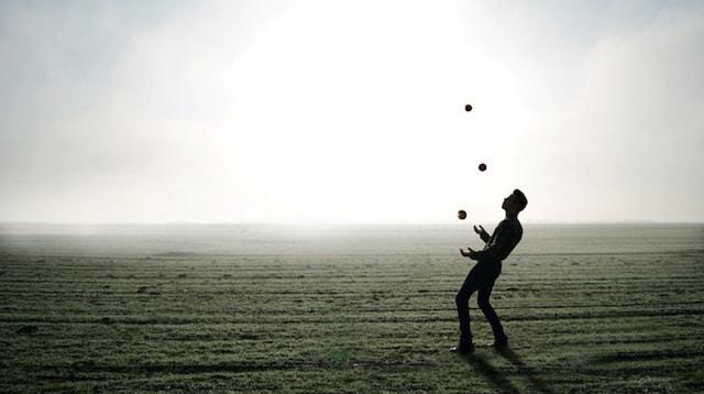 Management Skills Man Juggling