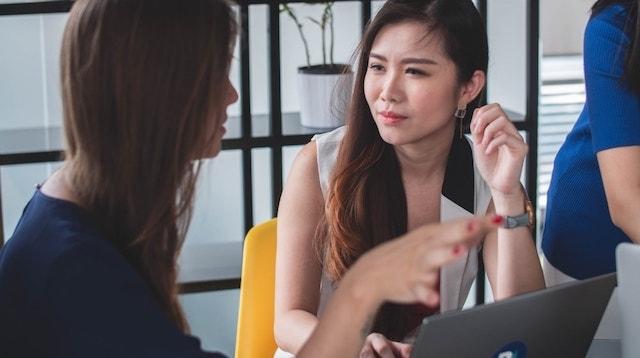 Management Skills Two Women Talking