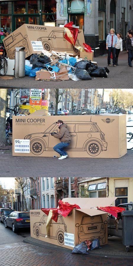 Mini Cooper Guerilla Marketing Amsterdam
