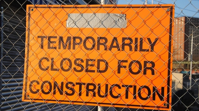 Retained Earnings Closed for Construction Sign