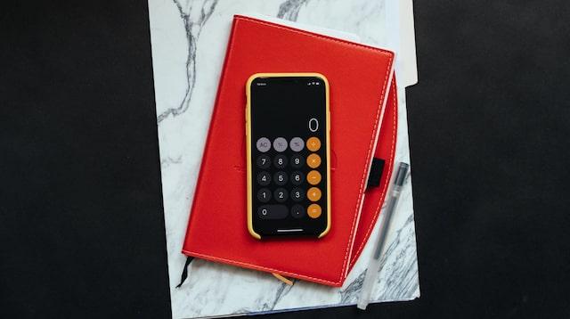 Income Statement Calculator Displayed on Smartphone
