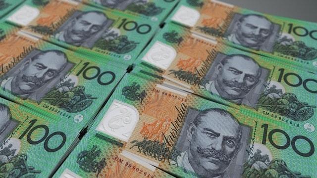 Retirement Planning Stacks of Bills