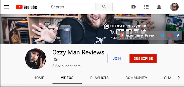 Social Media Influencer Ozzy Man Reviews
