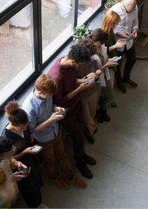 Social Media Influencer People Looking at Their Phones