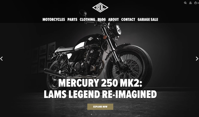 Sol Invictus Motorcycles Homepage