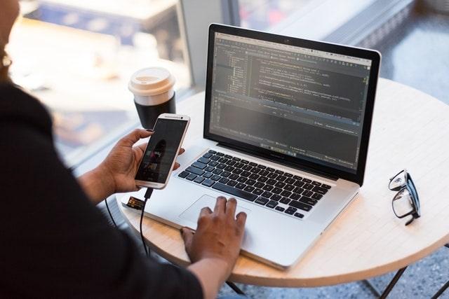 Web Developer Working on a Laptop
