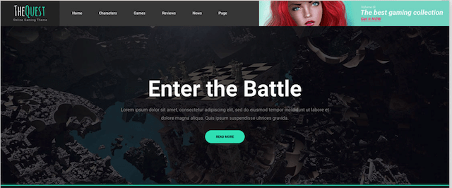 Wordpress Template Example