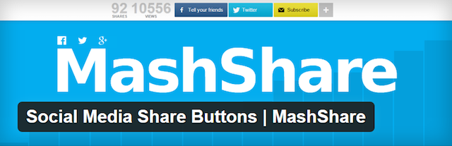 Starting a WordPress Blog MashShare Plugin