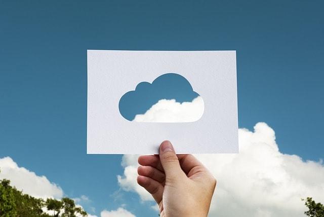 Backup Cloud Paper Cutout
