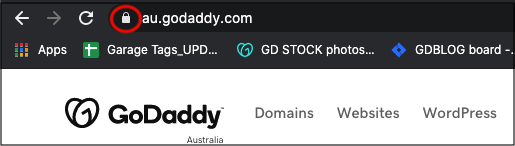 Browser bar showing the padlock icon