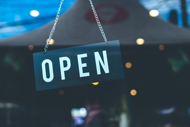 Buy a Business Open Sign on Store Window