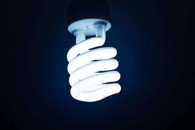 Close-up of an LED light bulb