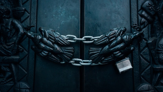 Cyber Attack Locked Door
