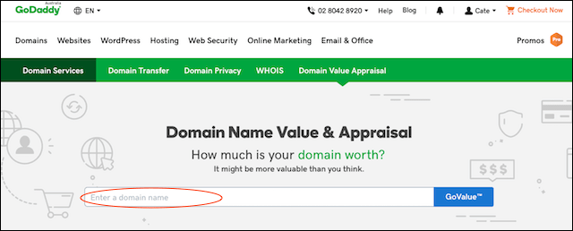 Domain Lookup GoDaddy Domain Appraisal Tool