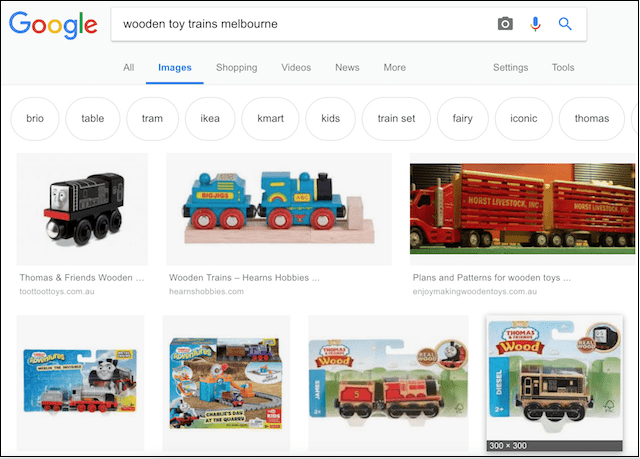 eCommerce Marketing Tips Melbourne Train Search