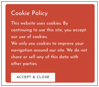 GDPR Australia WB Cookie Pop Up