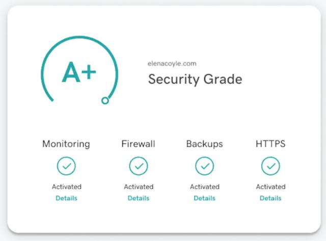 GoDaddy Website Security Dashboard