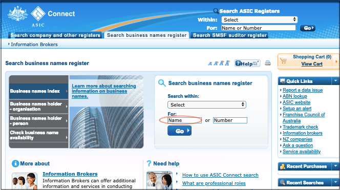 How to Start a Business ASIC Connect Website