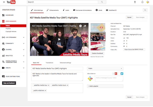 How To Use YouTube Video Management