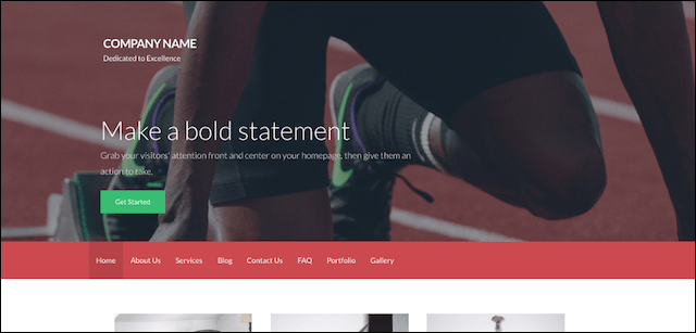 Sitebuilder GoDaddy WordPress Websites Template