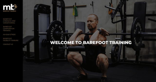 MB Barefoot Training Marcus Bradbery