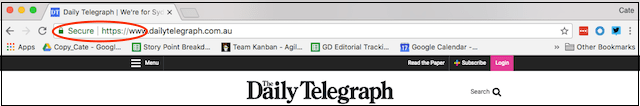 SSL Encryption Daily Telegraph