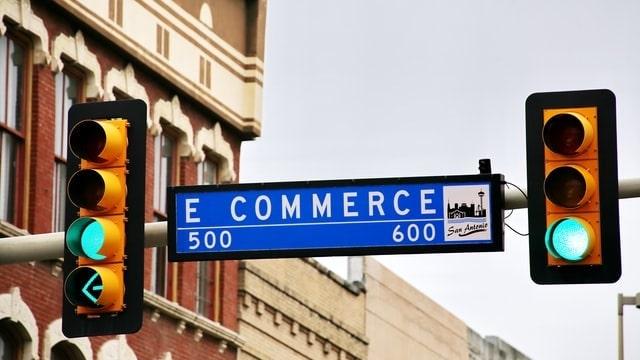 Street sign reading eCommerce