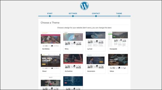 Website Design Choose WordPress Theme