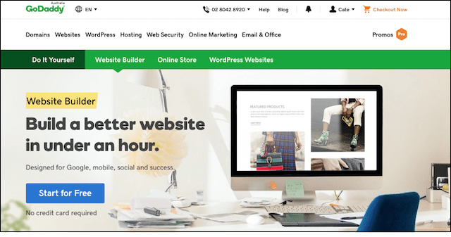 Website Design GoDaddy Website Builder Start Page