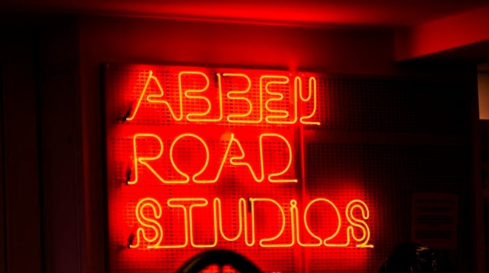 Website Design Neon Sign Reading Abbey Road Studios