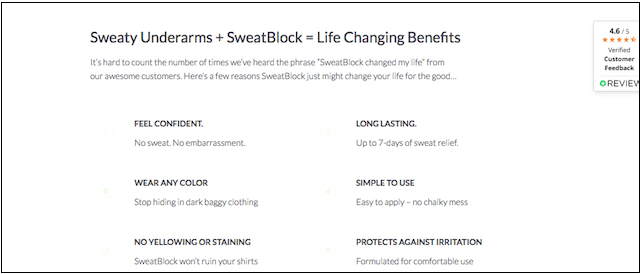 Website Design SweatBlock Benefits